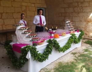 Equipe Castellum traiteur dordogne Périgord mariage